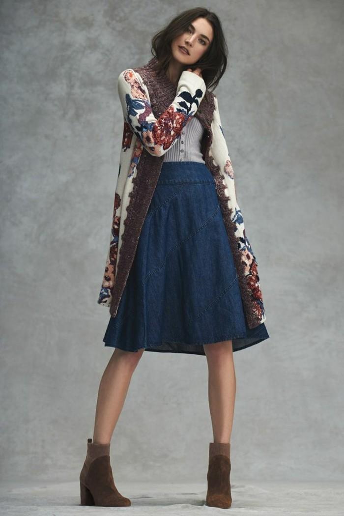 la jupe en jean femme l 39 avis des stylistes. Black Bedroom Furniture Sets. Home Design Ideas
