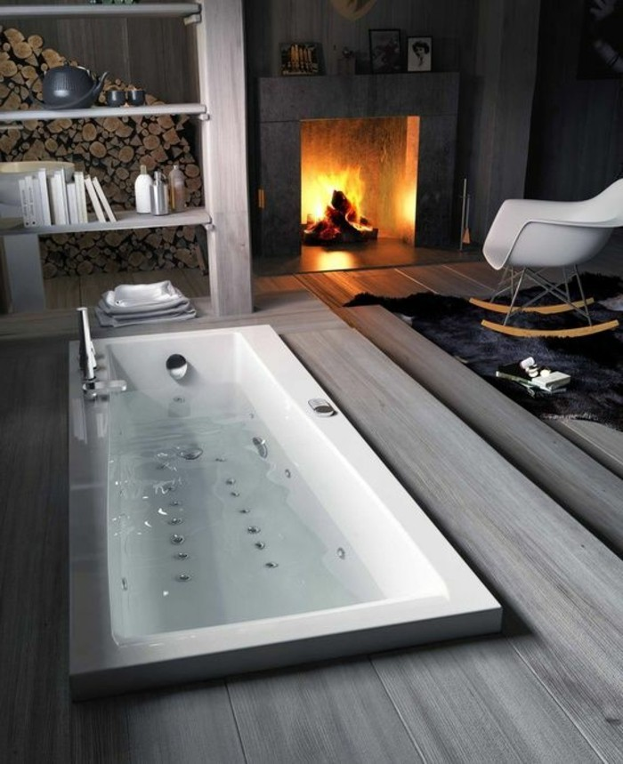 Comment cr er une salle de bain contemporaine 72 photos - Baignoire contemporaine ...
