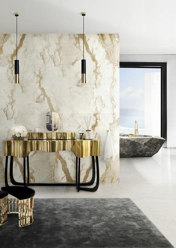 Salle De Bain Noir Et Beige : salle-de-bain-de-luxe-model-de-salle-de-bain-marbre-beige-et-noir