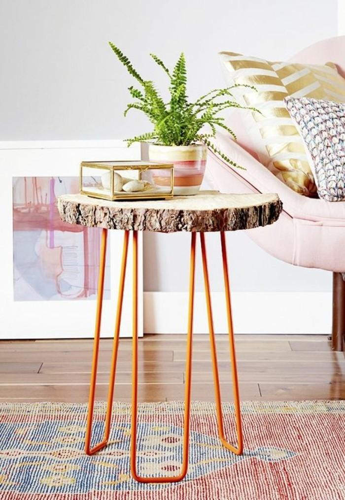 Petite table en fer et bois sammlung von for Ou trouver une table pliante