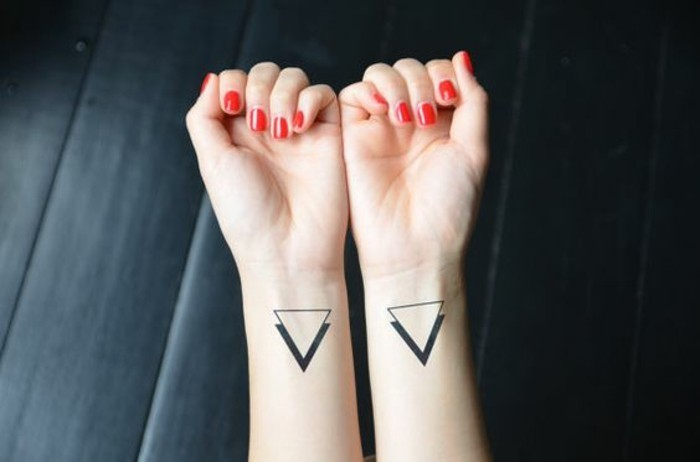 Pin Double Triangle Tattoo Meaning Images To Pinterest