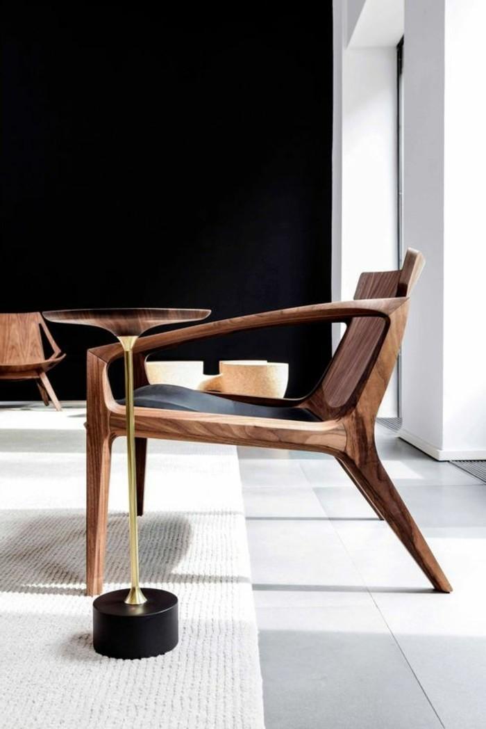 00-joli-design-minimaliste-table-d-appoint-en-bois-foncé-ikea-pas-cher-salon-mur-noir