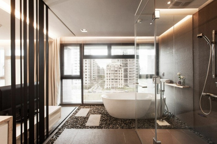 Comment cr er une salle de bain contemporaine 72 photos for Exemple douche salle de bain