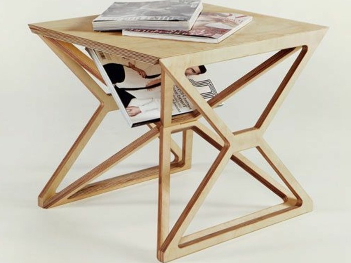 Petite table basse en bois home design architecture for Petite table en bois