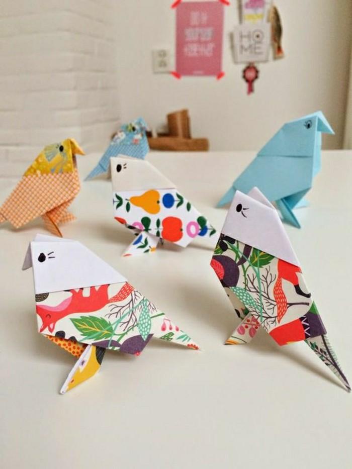 1-animaux-origami-facile-a-faire-pliage-papier-oiseaux-origami-colorés