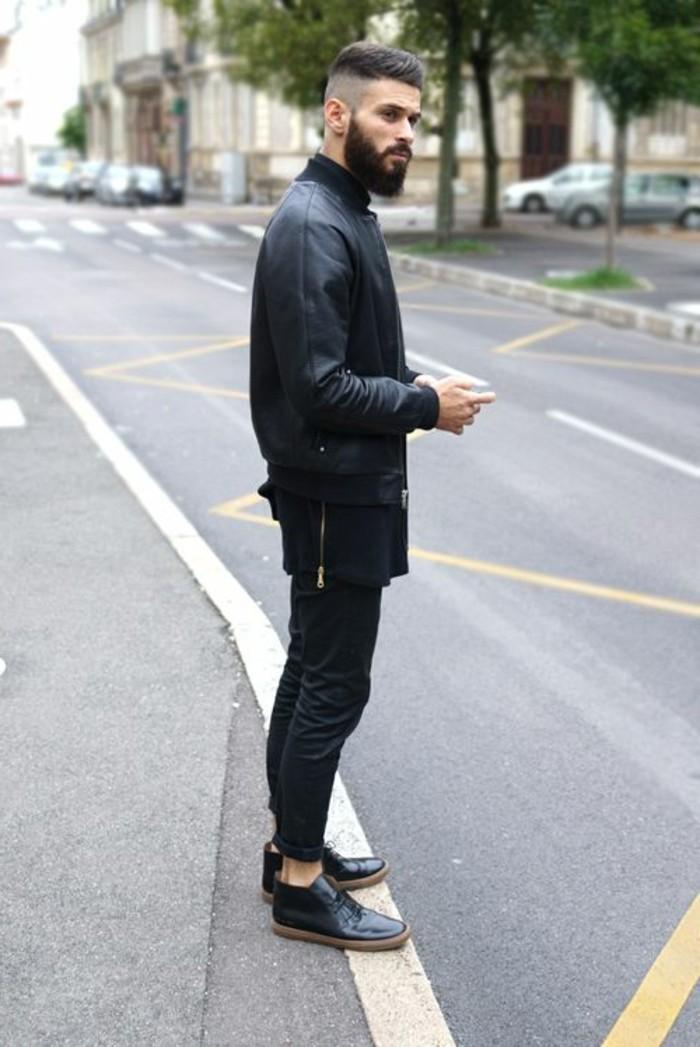 1-blouson-homme-pas-cher-en-cuir-noir-les-dernieres-tendances-chez-la-mode-homme