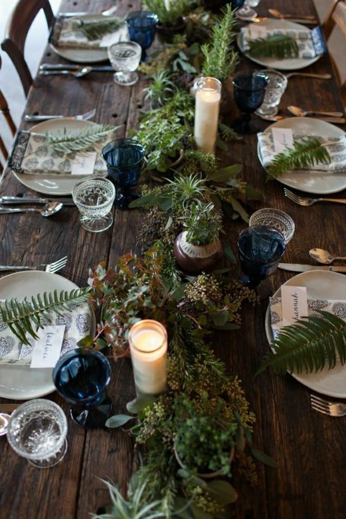 1-centre-de-table-mariage-rustique-table-en-bois-massif-et-decoration-en-branches-verts