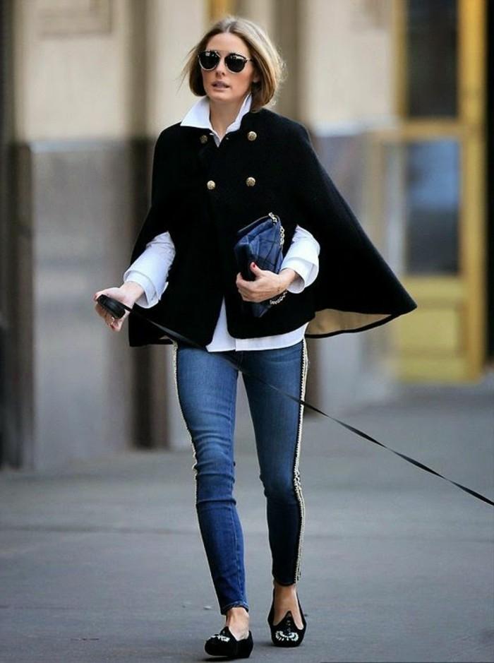 1-comment-s-habiller-classe-denim-slim-bleu-femme-avec-lunettes-de-soleil-noir