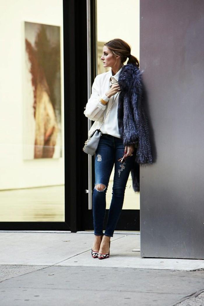 1-comment-s-habiller-classe-femme-mode-pour-2016-tendances-de-la-mode-denim-slim-bleu-foncé-talons-hauts-femme