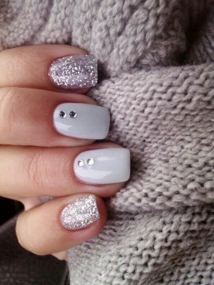 1,déco,ongles,gris,femme,modele,ongle,gel,