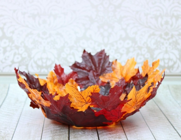 50 id es diy originale avec feuille d 39 arbre for Fall craft ideas for seniors