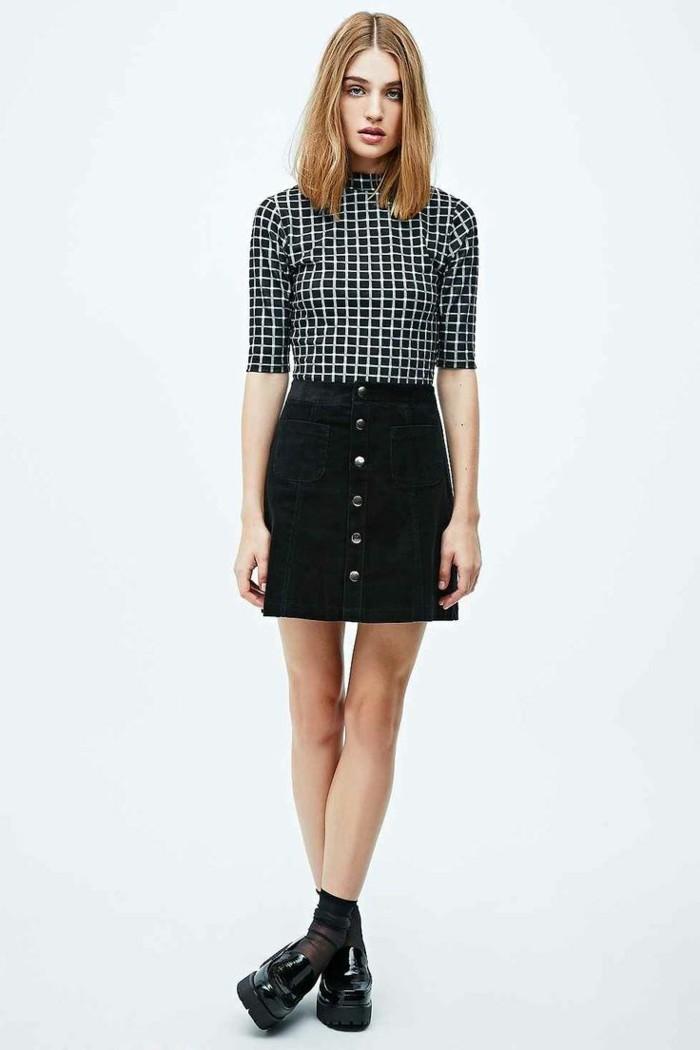 1-jupe-en-jean-noir-de-mode-femme-moderne-chaussures-femme-noires