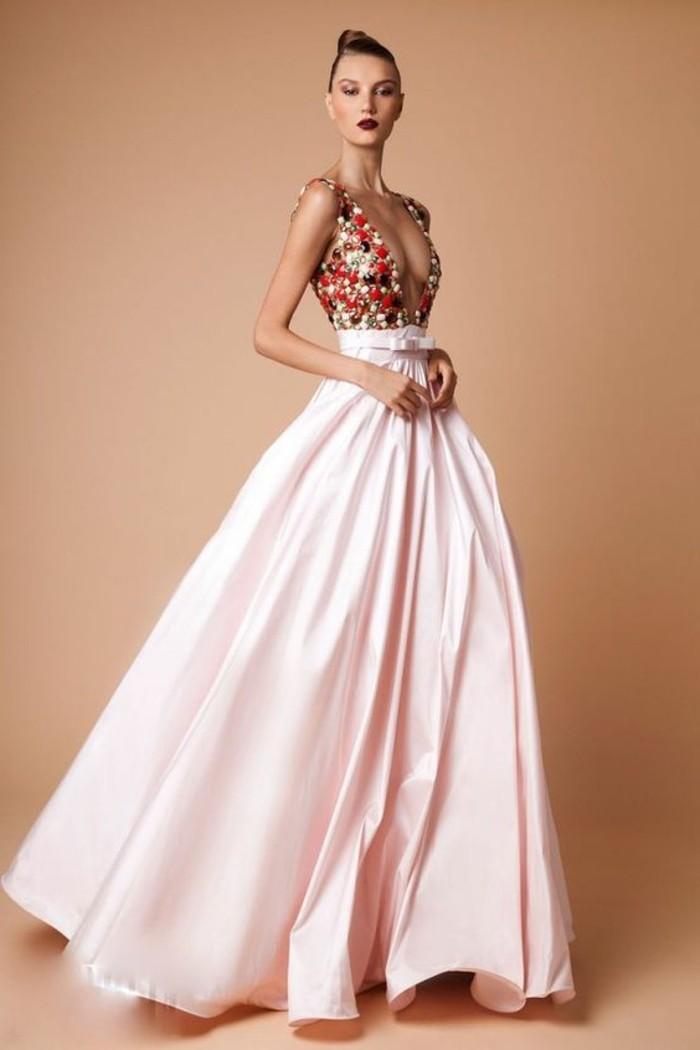 Robe de soir e pour mariage rose for Robe formelle grise pour mariage