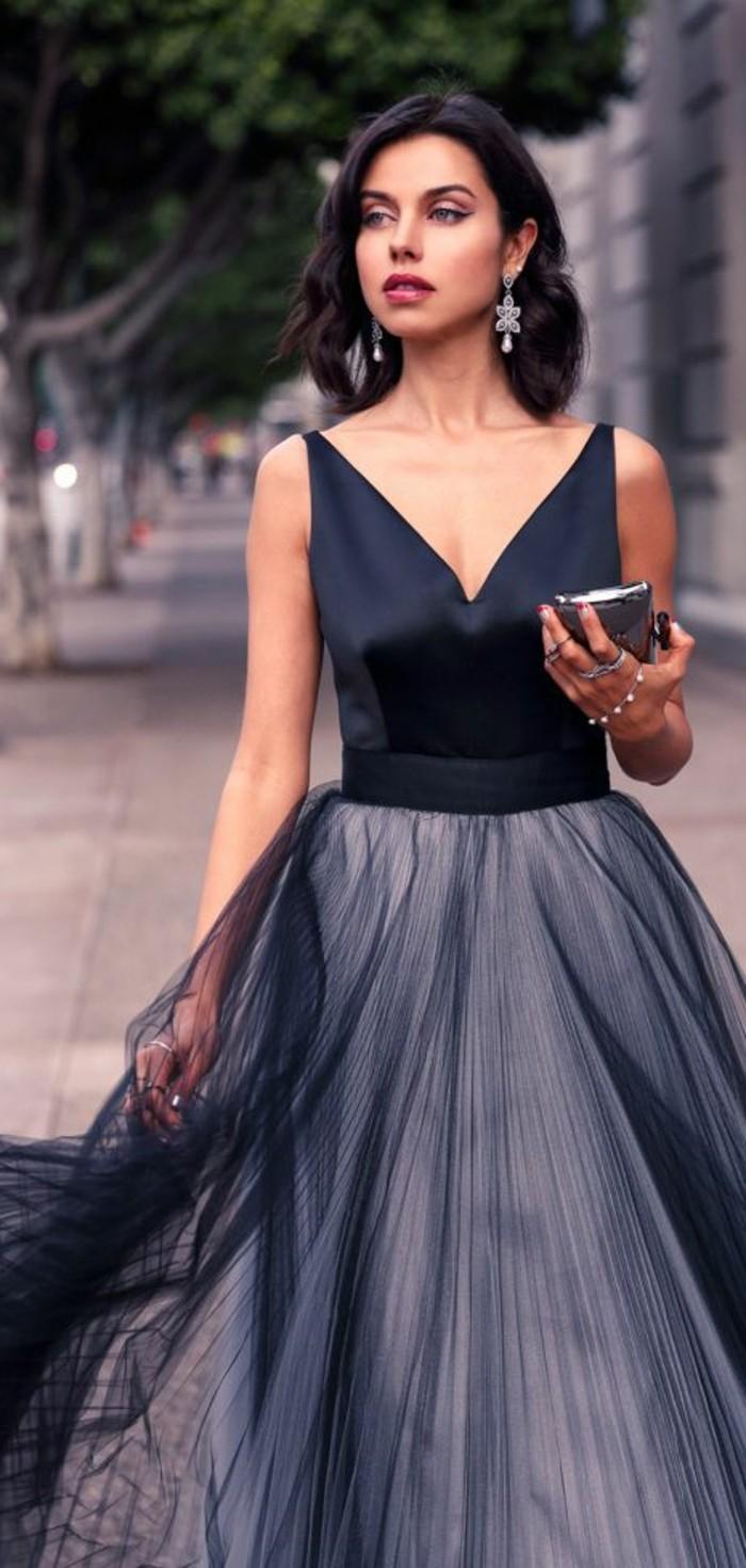 1-robe-de-soirée-pour-mariage-jupe-plissée-noir-et-top-noir-satin-femme-mode-mariage