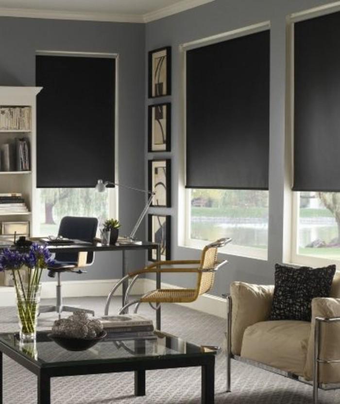 1-salon-avec-stores-occultants-noirs-moquette-gris-salon-meubles-de-salon-modernes