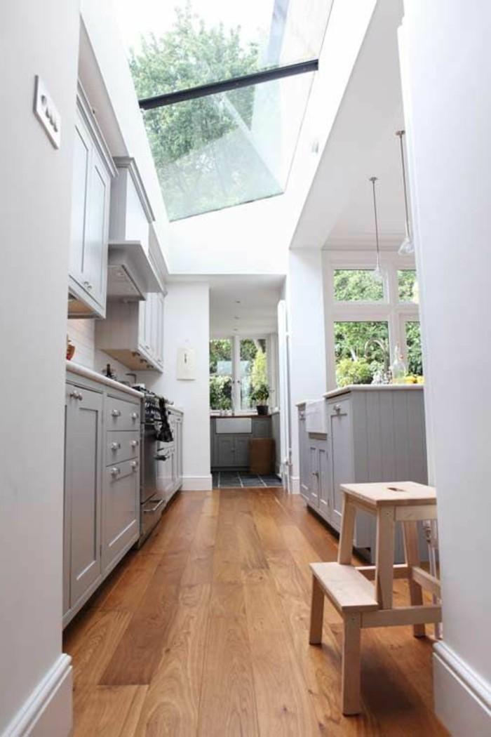 1-sol-en-parquet-en-bois-clair-meubles-gris-dans-la-cuisine-moderne-plafond-en-verre