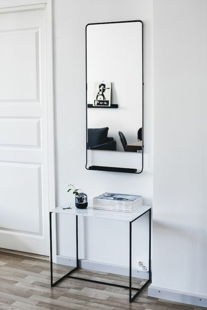 lovely meuble d entree avec miroir 5 1 table basse. Black Bedroom Furniture Sets. Home Design Ideas