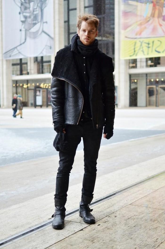 Que porter avec une veste en cuir homme