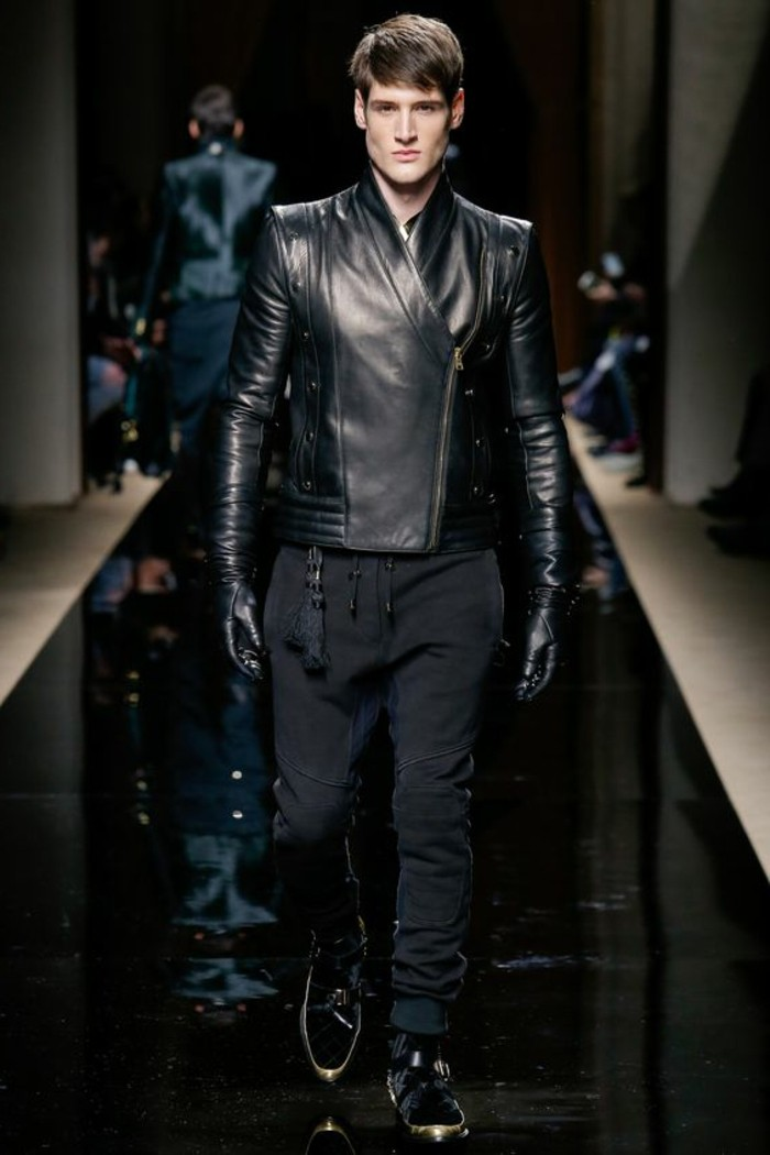 Recherche veste en cuir homme