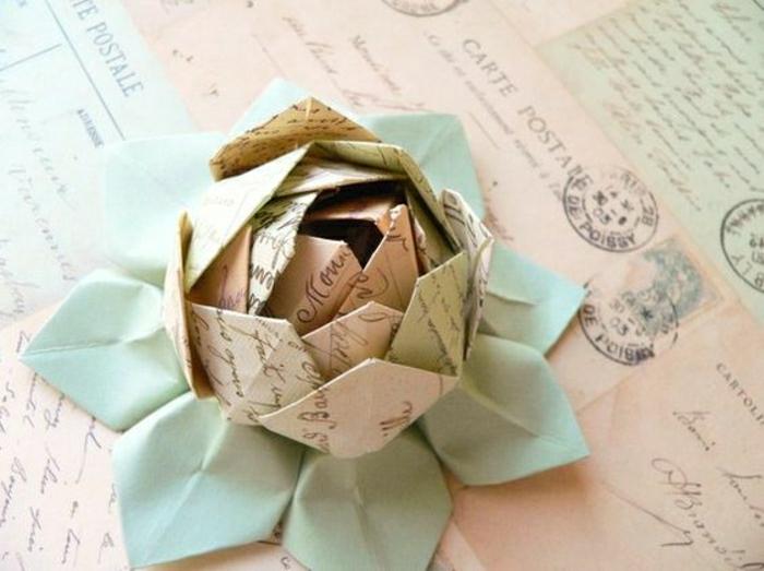 comment-faire-un-origamie-fleur-pliage-en-papier-coloré-comment ...