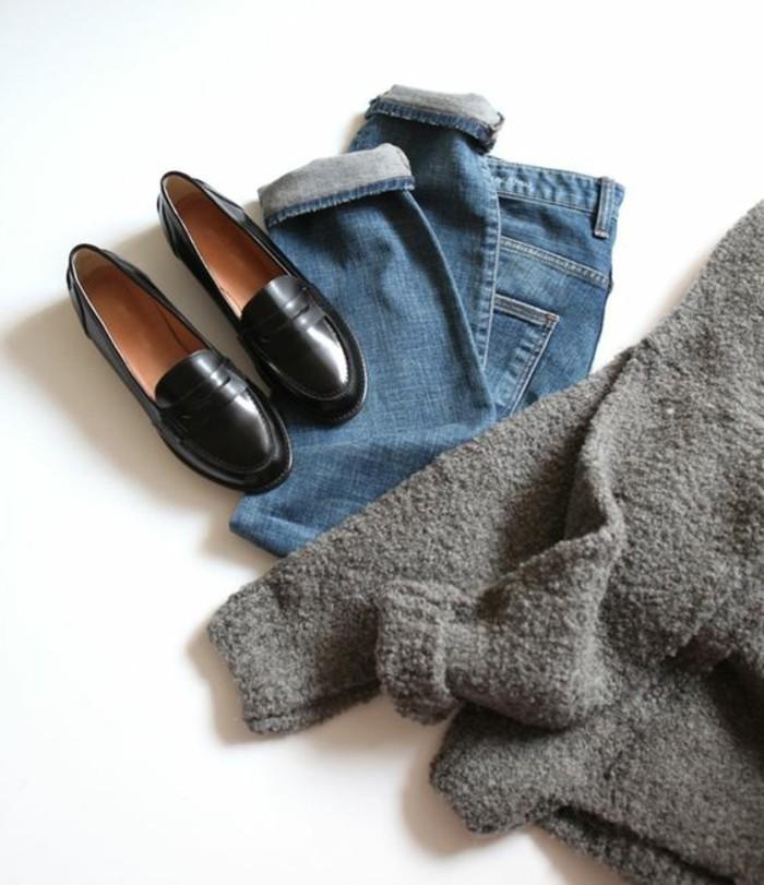 3-jeans-en-denim-bleu-foncé-chaussures-noires-tendances-de-la-mode-femme