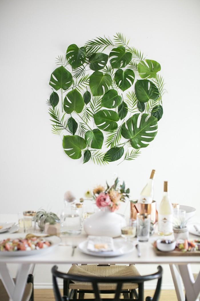 admirable-déco-cuisine-avec-feuilles-d-arbre-palmes-plantes-vertes