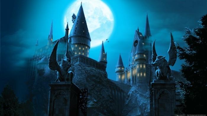 admirable-graffique-de-hogwarts-belle-decoration-mariage-château-de-poudlard