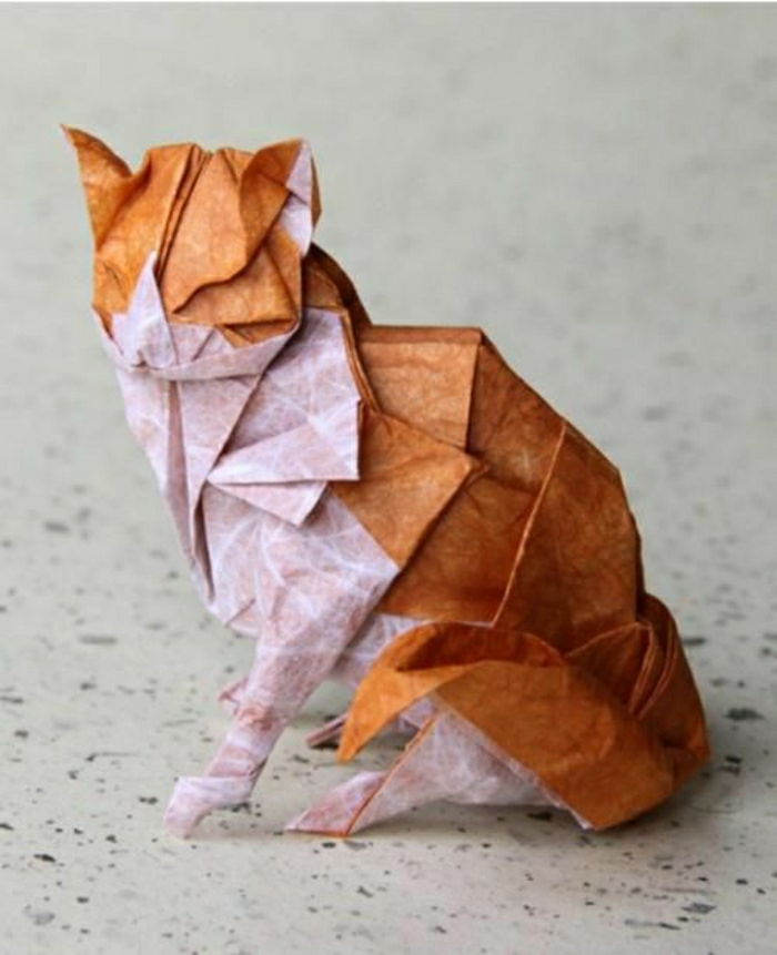 Comment faire un origami 55 id es en photos et vid os - Origami chat facile ...
