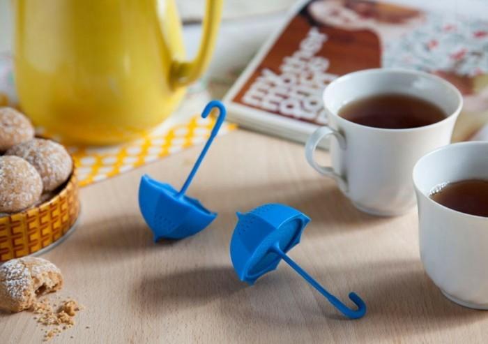 beau-design-thé-vert-en-sachet-drôle-parapluit