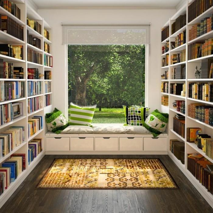 beau-fauteuil-de-lecture-cool-idée-à-faire-librerie