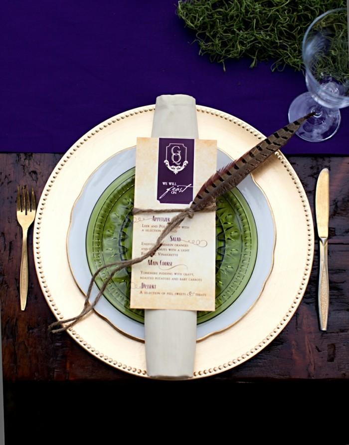 belle-décoration-mariage-château-de-poudlard-voir-les-plats