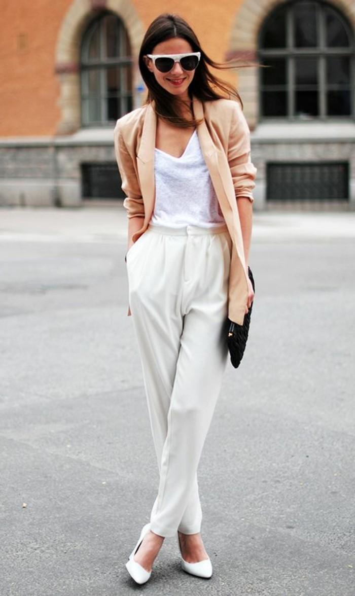 bien-s-habiller-femme-pantalon-elegant-femme-blanc-pantalon-pincé-femme
