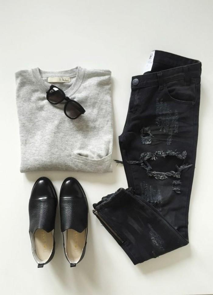bien-s-habiller-femme-tendances-de-la-mode-printemps-ete-chaussures-noires-femme