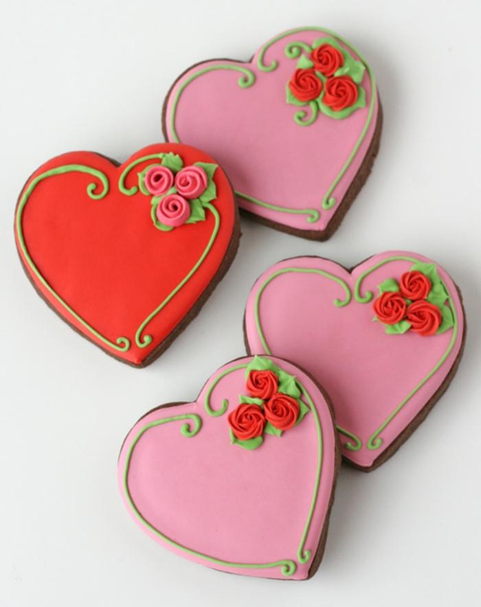 biscuit-de-noel-décoration-joli-idée-à-faire-coeurs