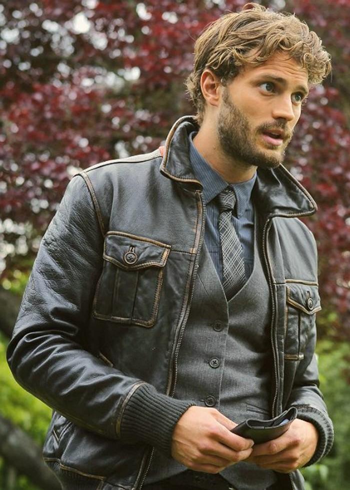 blouson-cuir-chevignon-en-marron-foncé-comment-porter-veste-en-cuir-homme