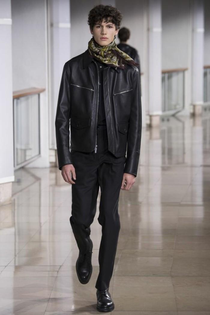 blouson-cuir-homme-redskins-pas-cher-tendances-mode-homme-pantalon-noir-elegant-pas-cher