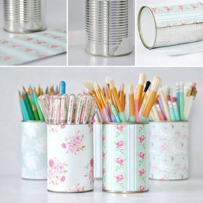 boîte-de-conserve-avec-serviettes-pour-ranger-ses-crayons