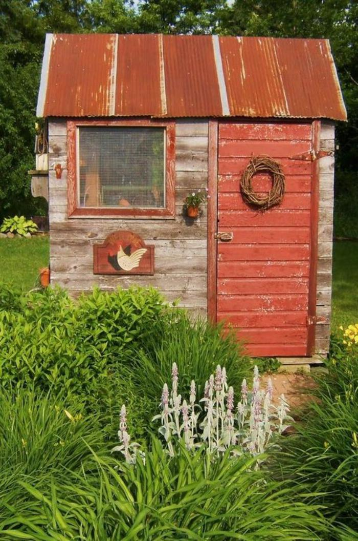 Amnager Son Abri De Jardin Amnagez Votre Jardin Avec Un Abri Metal Finition Simili Bois With