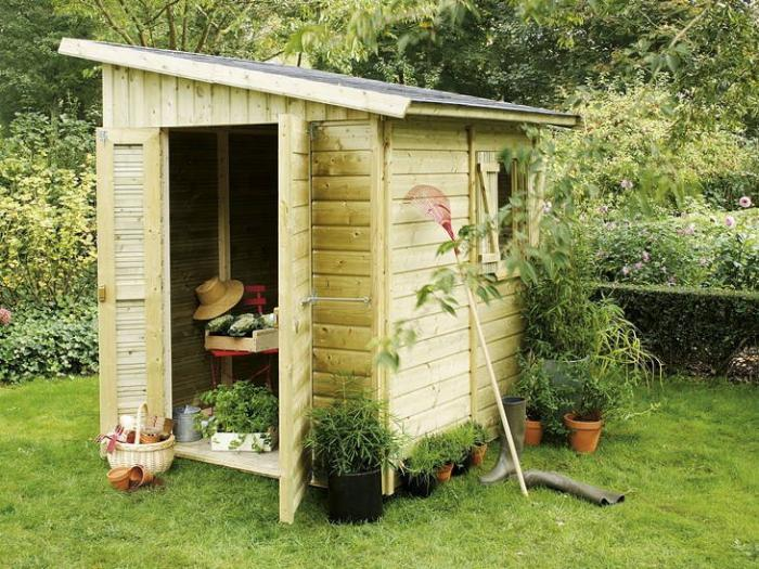 Le cabanon de jardin en 46 photos choisir son style pr f r for Toiture cabane de jardin