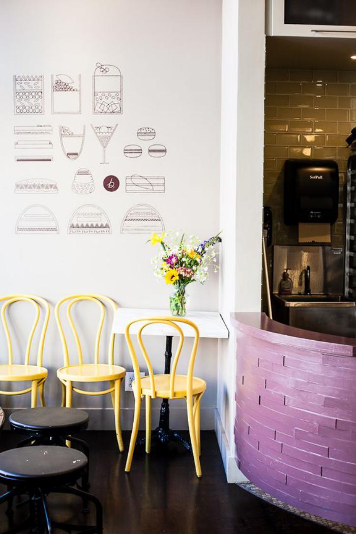chaise-thonet-chaises-jaunes-thonet-décors-meubles-originaux