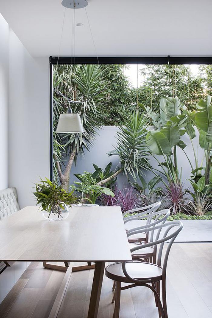 chaise-thonet-décor-élégant-grande-photographie-de-jardin-exotique