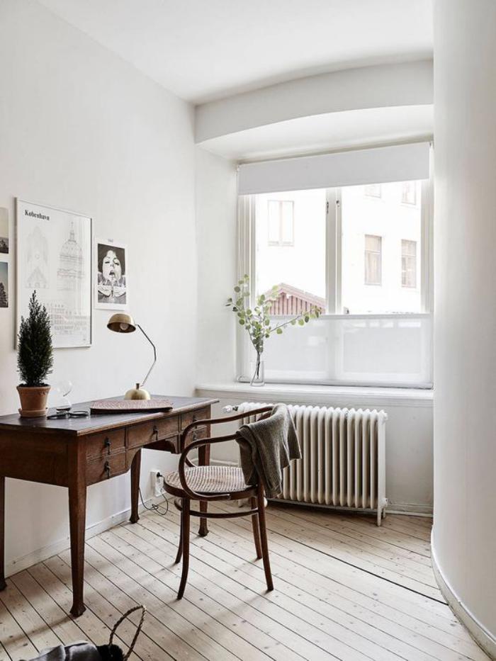 chaise-thonet-joli-office-à-la-maison-vintage-scandinave
