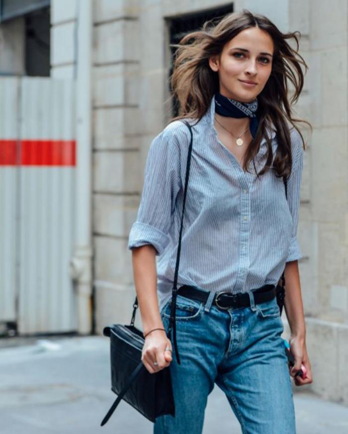 40665d46686 La chemise rayée femme - façons de la porter - Archzine.fr