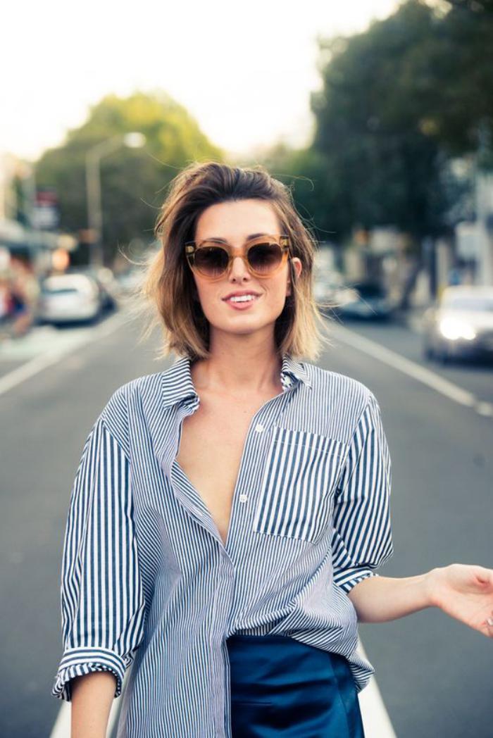 chemise-rayée-femme-différents-types-de-rayres-sur-une-seule-chemise-longue