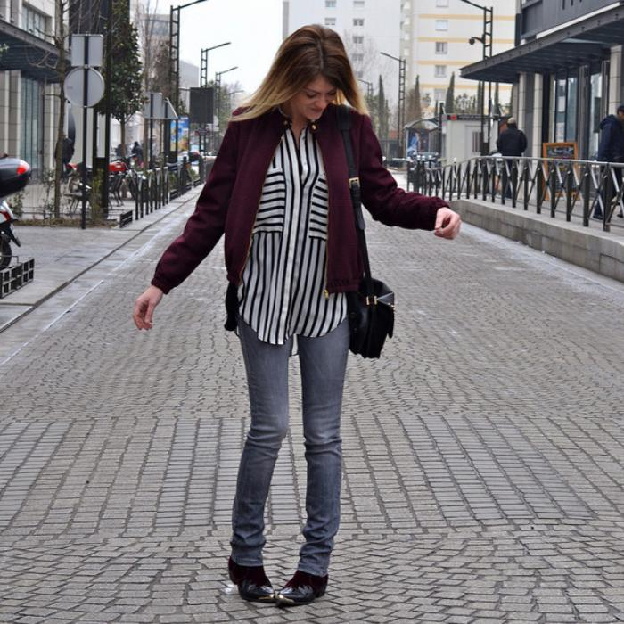 chemise-rayée-femme-skinny-jeans-streetstyle-casuel