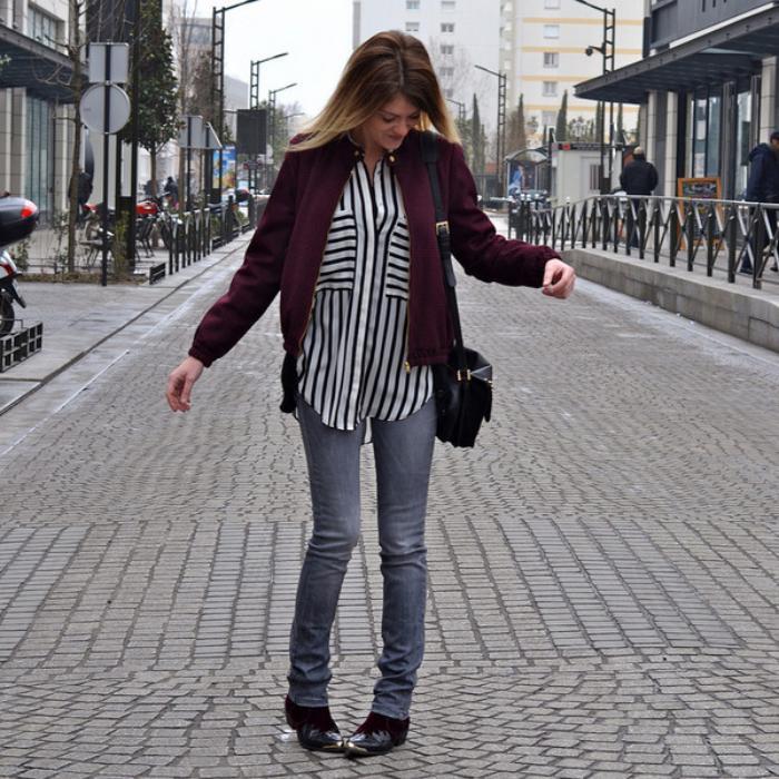 chemise-rayée-femme-skinny-jeans-streetstyle-casuel