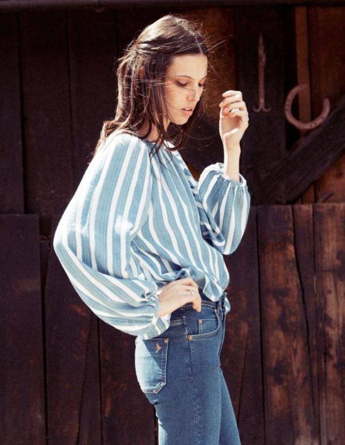 chemise-rayée-femme-tendances-mode-chemise-fluide-bleue-et-blanche