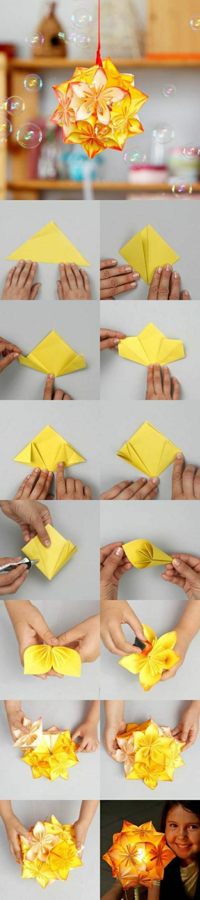 comment-faire-un-origami-facile-pliage-papier-jaune-origami-pour ...