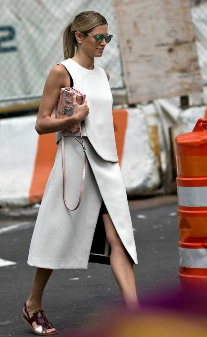 comment-s-habiller-classe-tendances-de-la-mode-femme-2016-longue-robe-grise-femme