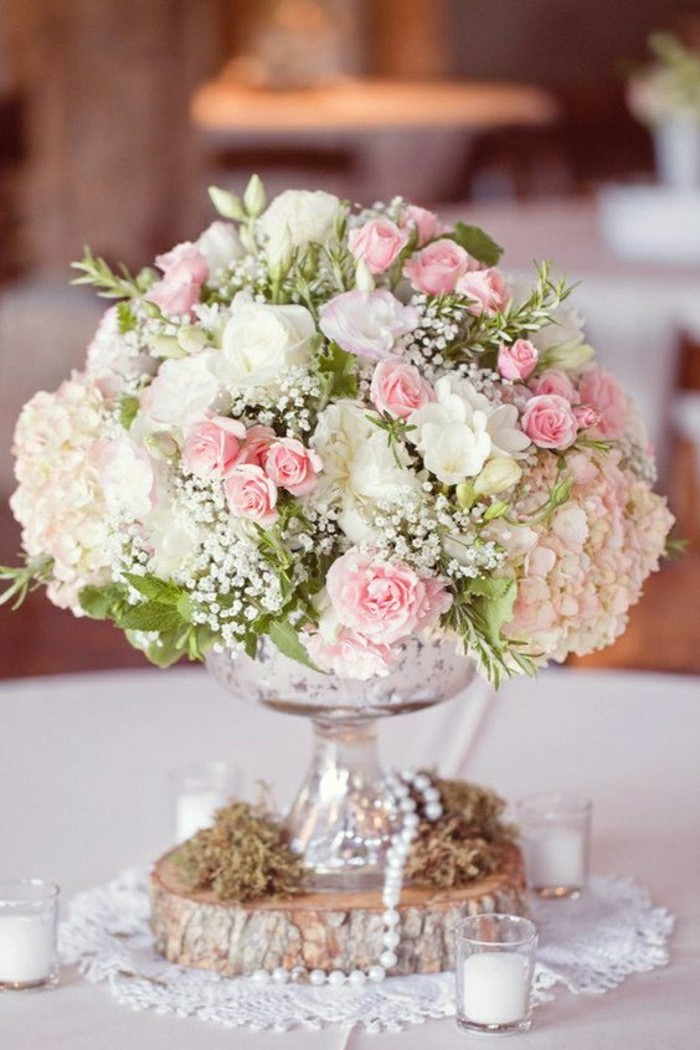 Comment d corer le centre de table mariage - Composition florale centre de table ...